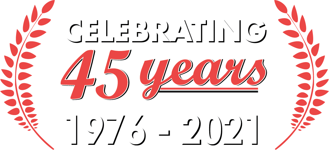 45+ YEARS horizontal banner_White